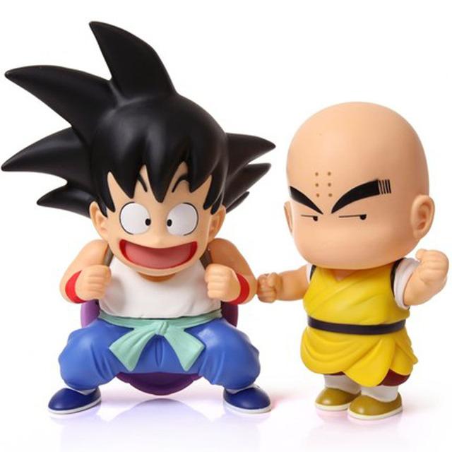 2 Шт./лот Аниме Dragon Ball Z Цифра Гоку Kuririn ПВХ Фигурки Игрушки Dragonball В Коробке Бесплатная Доставка