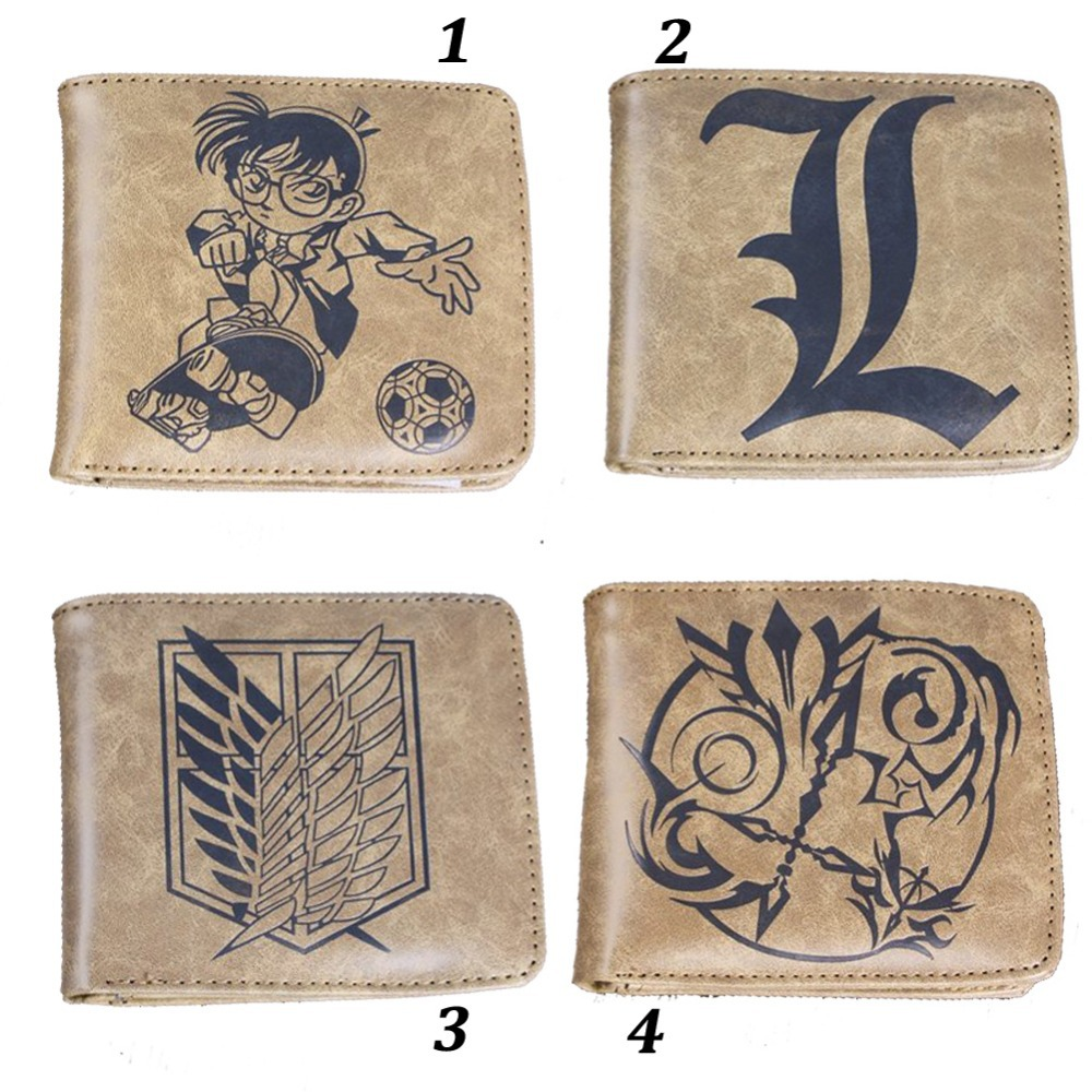 Japan Anime Leather Wallet PU Leather Cartoon Character Wallets Naruto / Fate Stay Night / Death Note / The Giant Collection(China (Mainland))