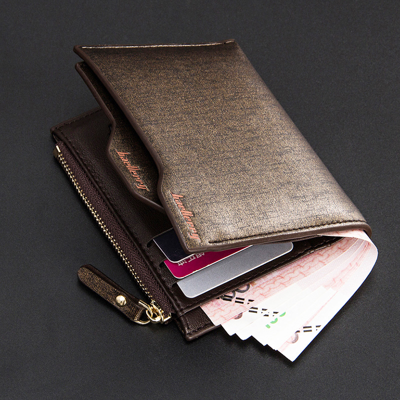 Men wallets with removable card solt leather wallet for man top quality guarantee famous brand wallets luxury purse short wallet(China (Mainland))