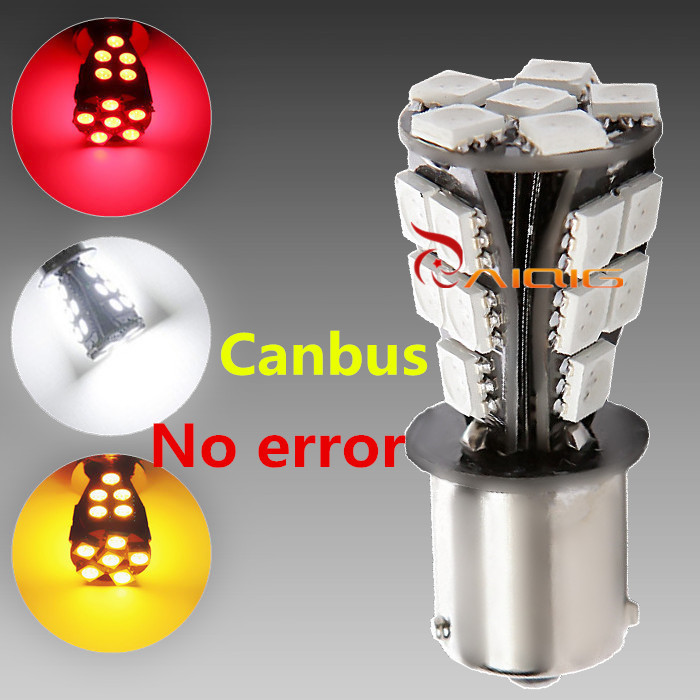 1156 21 SMD BAU15S led car bulbs canbus No Error py21w Lamp External Lights Car Light Source 12V Red White Yellow(China (Mainland))