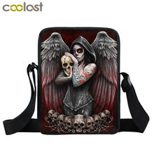 Escuro gótico vampiro beleza mini mensageiro bolsa feminina crianças sacos de escola meninas pequena bolsa de ombro crossbody sacos bookbag(China)