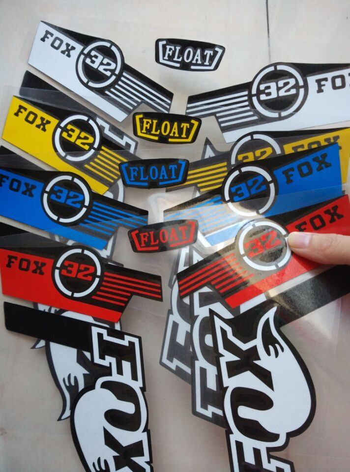 20 Sets Wholesale Distribution New Arrival Reflective Decals Bike Accessories Mtb Frames Forks Bike Sticker Fox 32 Fork Stickers<br>