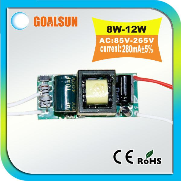 Factory whosale price 230V/240V/110V/220V 8W 9W 10W 12W led driver(8w-12w),10W 12W lighting transformer,10pcs/lot Free shipping(China (Mainland))