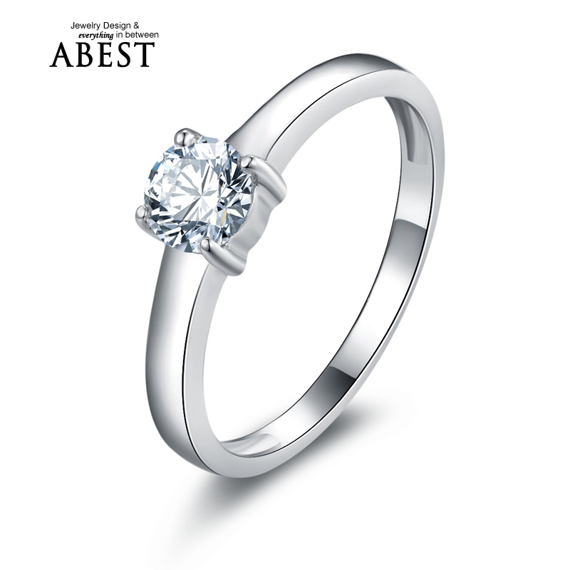 Sona Engagement Ring Simulated Diamonds Engagement Rings for Women Romantic Four Claws Ring Discounts Fashion Gift Uloveido(China (Mainland))