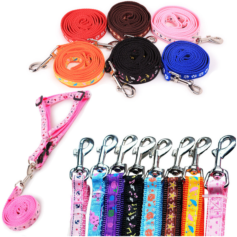 free shipping pet dog harness dog leash with collars high quality nylon rope lead(China (Mainland))