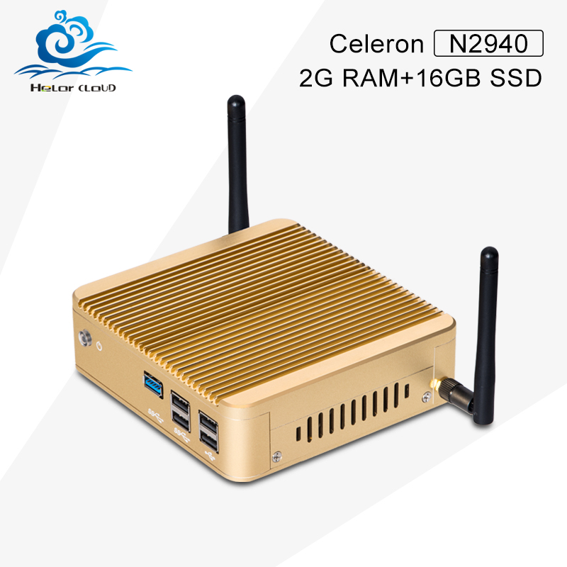 Highest cost effective! X30-N2940 2G RAM DDR3 SSD with wifi hard disk and ram fanless desktop computer case thin client mini pc(China (Mainland))
