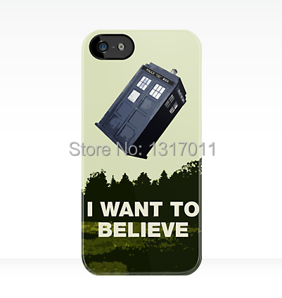 2014 Custom design want to believe back hard case cover for iphone 4 4s 5 5s 5c 6 plus(China (Mainland))