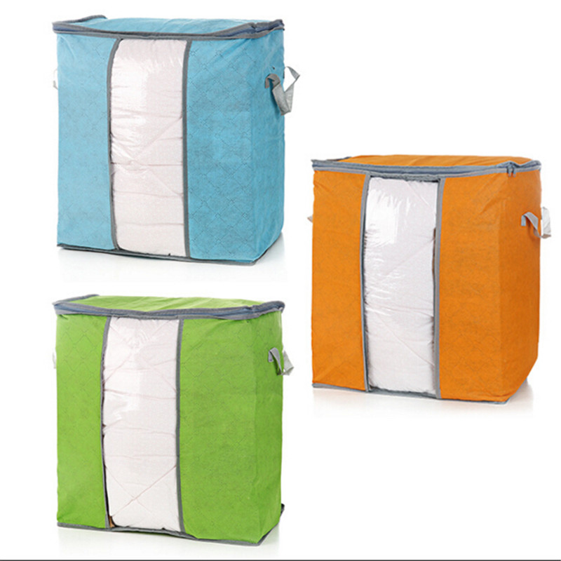Portable Rangement Non Woven Clothing Quilt Overcoat Storage Boxes Organizer Storage Bag 5N1300(China (Mainland))