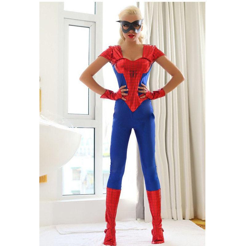 Blue Spider Woman Halloween Costume Adult Superhero Fancy DressОдежда и ак�е��уары<br><br><br>Aliexpress