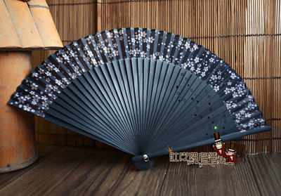 2016 Gifts For Women Girls Bamboo Oriental Cherry Print Fragrant Hand Fan Home Decoration Crafts High End Japan Folding Fan WZ(China (Mainland))