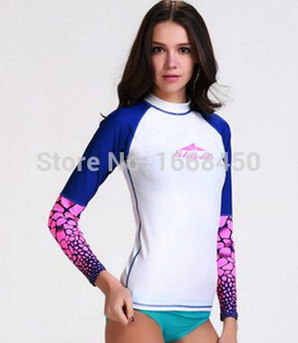 Sports women rash guard womens long sleeve nylon swimming rash guard transparent sun jacket lycra dive skins<br><br>Aliexpress