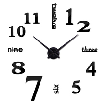 2016 rushed Metal modern style watches fashion limited big wall clock Quartz mirror sticker diy living room decor - Lily DIY Clocks Trading Co., Ltd. store