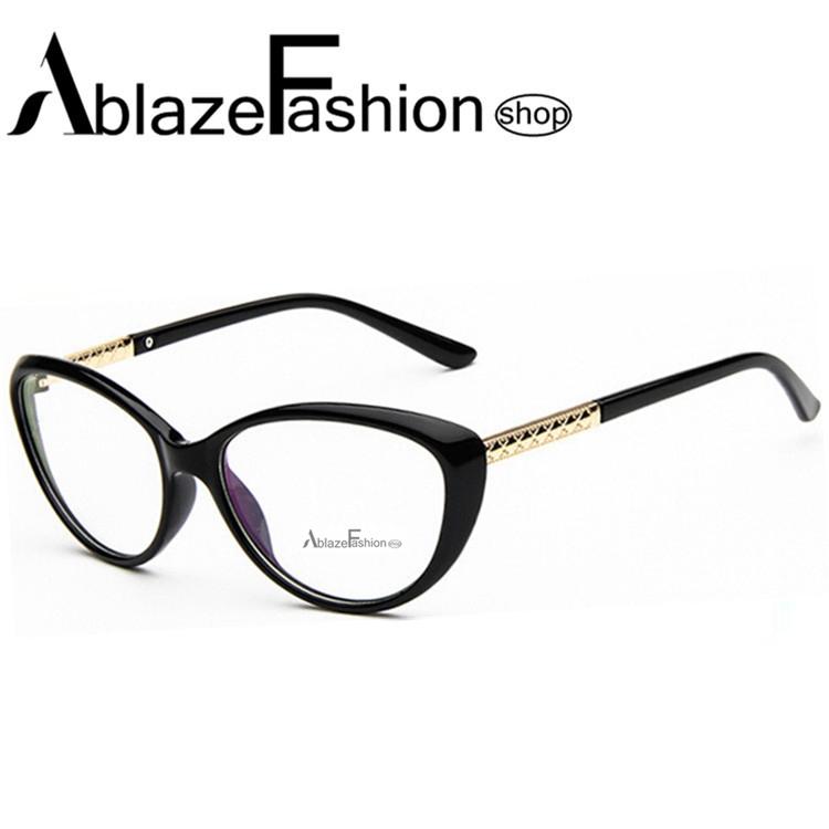 2015 New Brand Women Coating Optical Glasses Frame Cat Eye Eyeglasses Anti-radiation Anti-fatigue Computer Glasses nerd Oculos