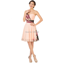 New Fashion Lace Up Back Sexy Women Short Prom Party Dress Floral Print Vintage Dress Knee Length Evening Dress 2015 CL7501(China (Mainland))