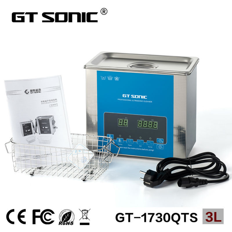 Digital Ultrasonic cleaner 3L for surgical instruments cleaning with degas function with dual frequency GT-1730QTS GT SONIC(China (Mainland))