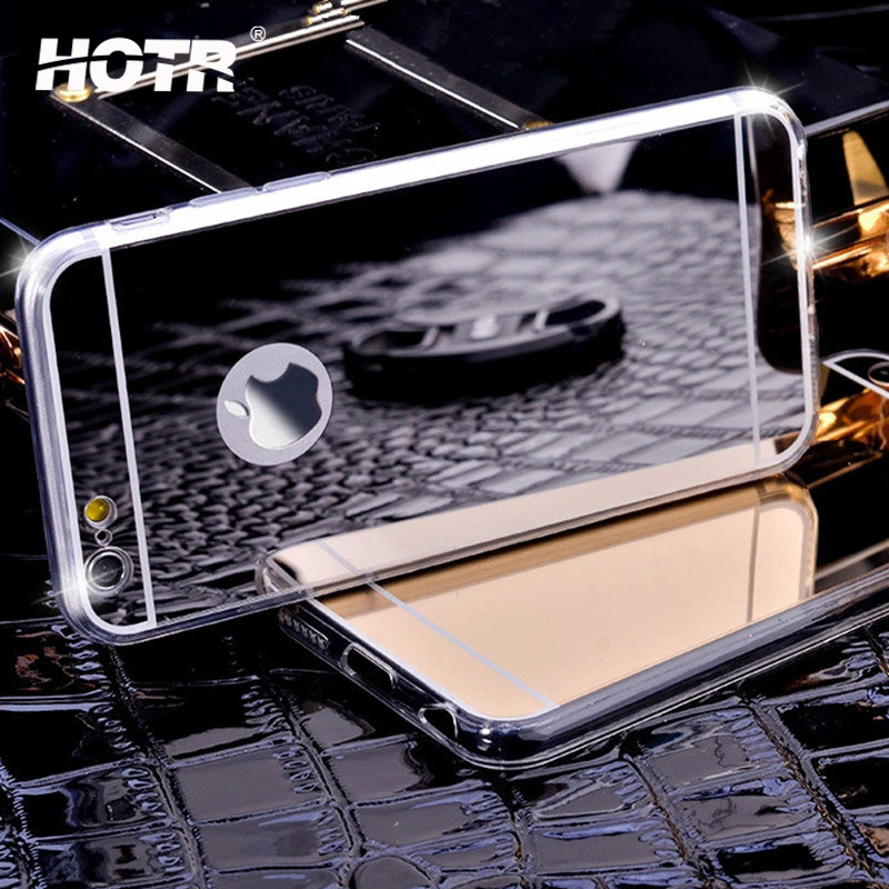 Luxury Ultra Slim Soft Case For Iphone 5 5C Fashion Clear Silicone TPU Mirror Back Cover For Iphone 5C 5 Mobile Phone Cases(China (Mainland))