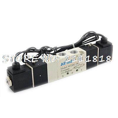 Double Coil 2 Position 5 Port Air Solenoid Valve AC220V