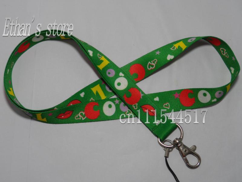 Free Shipping Green shoojy super cool ID lanyard mobile phone neck strap wholesalers(China (Mainland))