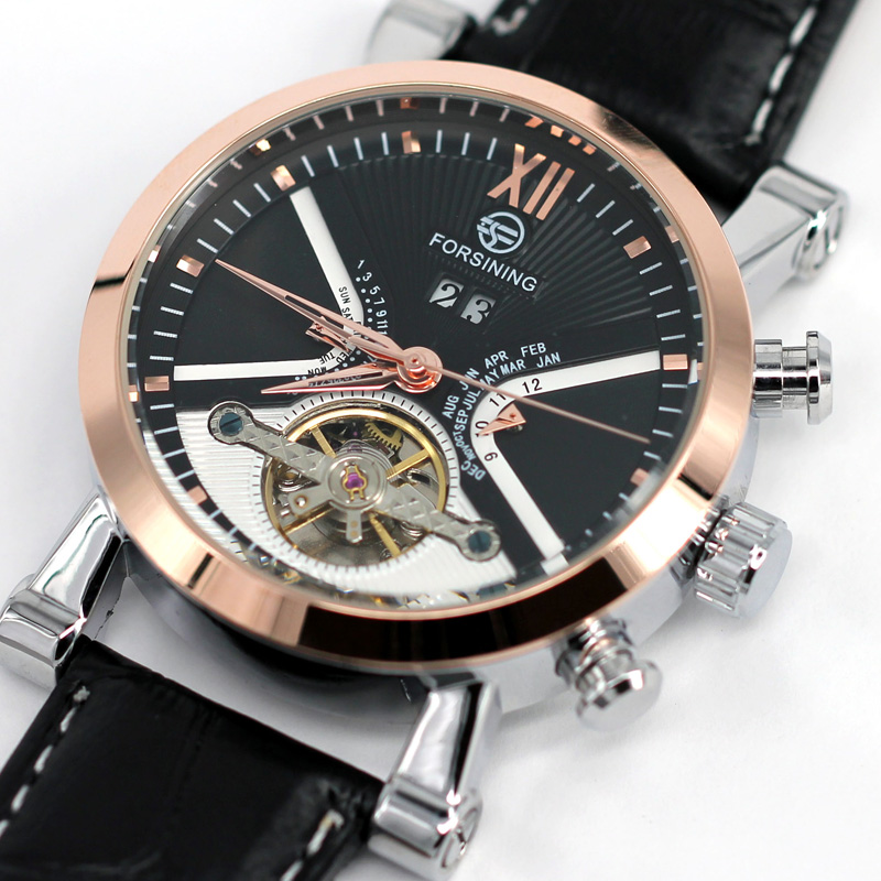 Man Mechanical Watch Automatic Self Wind Leather Wristwatch FORSINING 2016 Stylish Free Shipping Male Work Classic relojs LZ322<br><br>Aliexpress