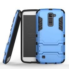 Buy New Dual Layer Hybrid Tough Rugged Armor Case LG K5 K7 K10 Fundas Kick Stand Back Cover Coque Shockproof Mobile Phone Bags for $2.92 in AliExpress store