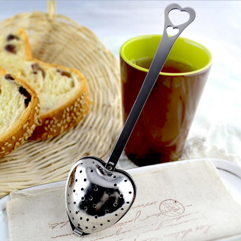 Stainless Steel Infuser Spoon Tea Strainer Steeper Handle Shower Cute Tea Filter *(China (Mainland))