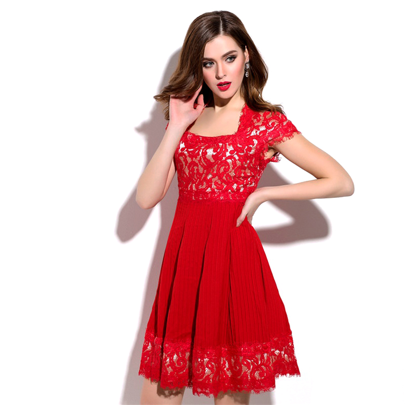 Women Sexy Lace Dresses Europe Style Plus Size Embroidery Hollow Out Mini Summer Dress 2016 New Vestidos Femininos 2065Одежда и ак�е��уары<br><br><br>Aliexpress