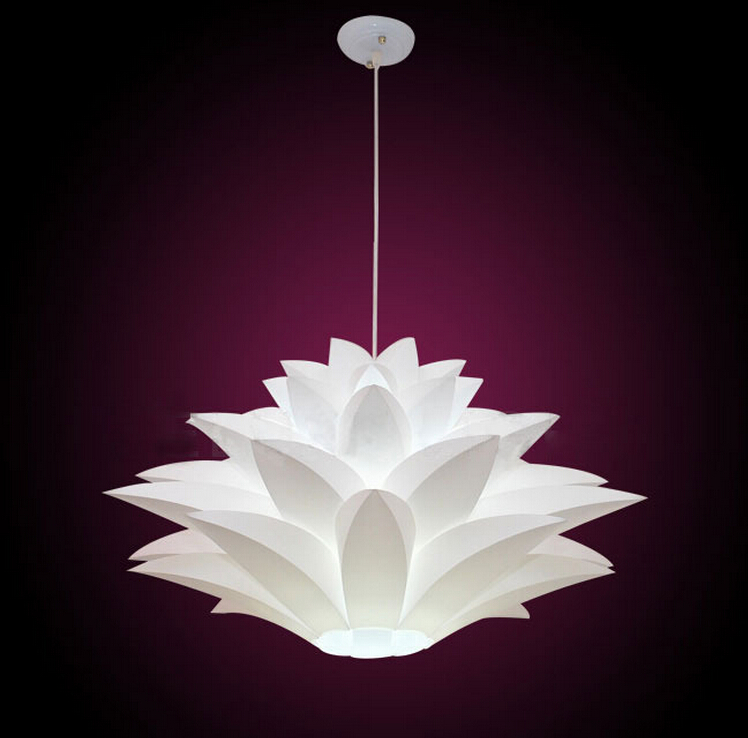 Modern Novelty Pendant Lights DIY Lotus Flower Lampshade