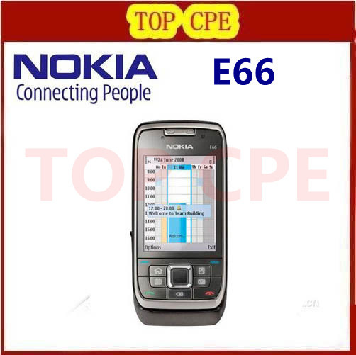Refurbished E66 Original Nokia E66 Mobile Phones 3G WIFI GPS Bluetooth JAVA Unlock Cell Phone Free Shipping In Stock(China (Mainland))