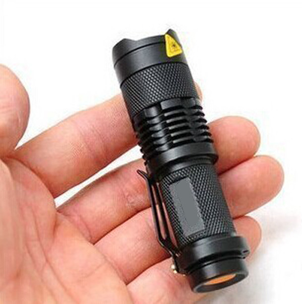 Super Mini Led Flashlight Waterproof Adjustable Focus 1000LM Torch With AA or 14500 Battery for Camping Hiking Cycling Hunting