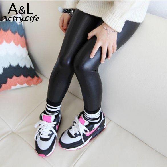 Девушка узкие брюки подарок продажа черный малыш кожаные штаны девочка брюки ребенок леггинсы / легинсы девушка брюки детей-леггинсы 6 размеры 67