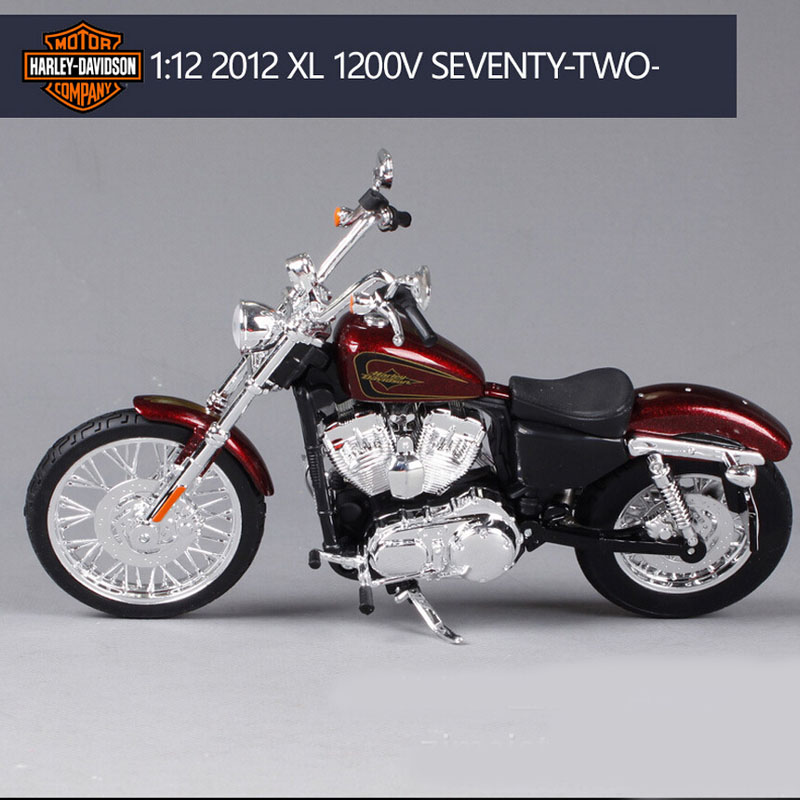 New 1:12 scale Maisto kids cool Harley 2012 XL 1200V Diecast model motorbike motor cycle race car metal collectible toys for boy(China (Mainland))