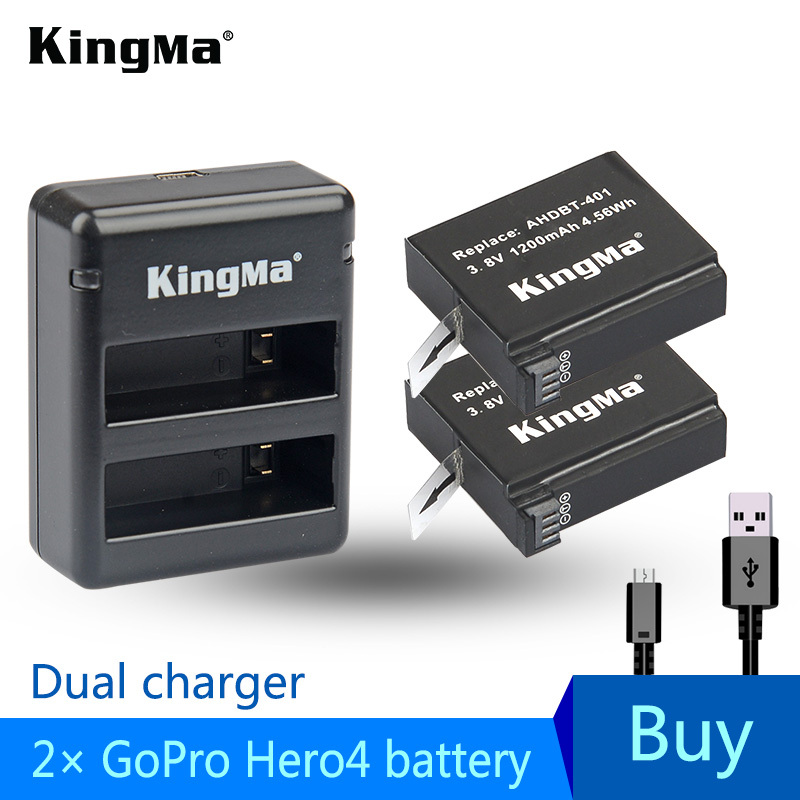 Wholesale 2x1200mAh AHDBT-401 Camera Battery For GO PRO + Dual Port Home