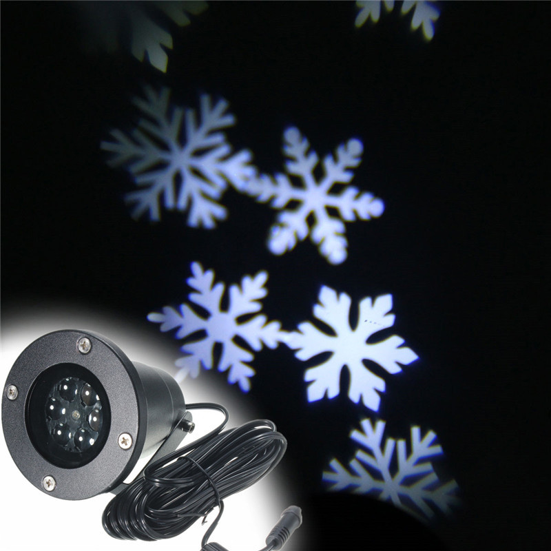Outdoor Lighting Moving Waterproof IP65 Snowflake Laser LED Landscape Light Garden Yard Holiday Projector Xmas Decor 110-240V(China (Mainland))