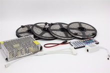 Buy 10M 20M DC12V Waterproof RGB LED Strip Light Flexible SMD 5050+ IR 44 Keys Remote Controller + 12V Power Supply Transformer for $17.86 in AliExpress store