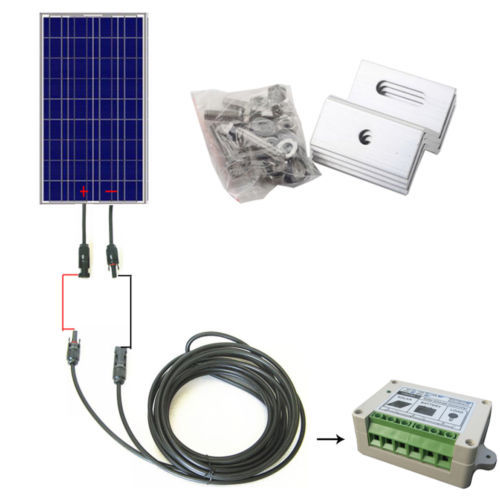 100W complete Kit: 100W Solar Panel+10M Solar Cable+15A PWM Charge Controller+Z Bracket Mounts(China (Mainland))