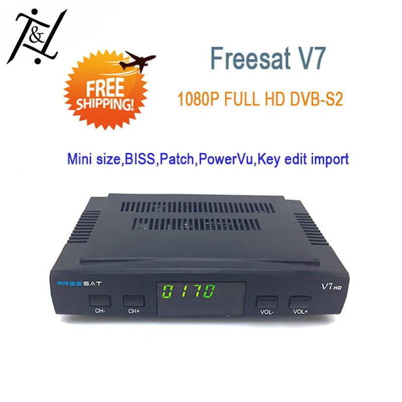 Original Freesat V7 Mini Digital Satellite Receiver Full HD DVB S/S2 USB WiFi Biss Patch cccam newcamd Powervu(China (Mainland))