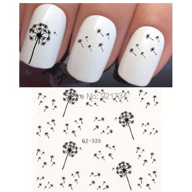 2015 new 2 PCS Dandelion design Export JAPAN QJ 325 designs NEWEST Popular water nail art