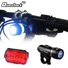 Buy 5 Led Bicycle Front Head light+Tail light Set Waterproof Road MTB Mountain Bike Rear Light Cycling Lamp Flashlight Accessories for $2.52 in AliExpress store