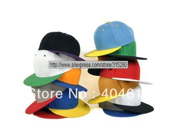 wholesale adult popular 100% blank flat snapback hat women and men high qualtiy cotton sport baseball caps