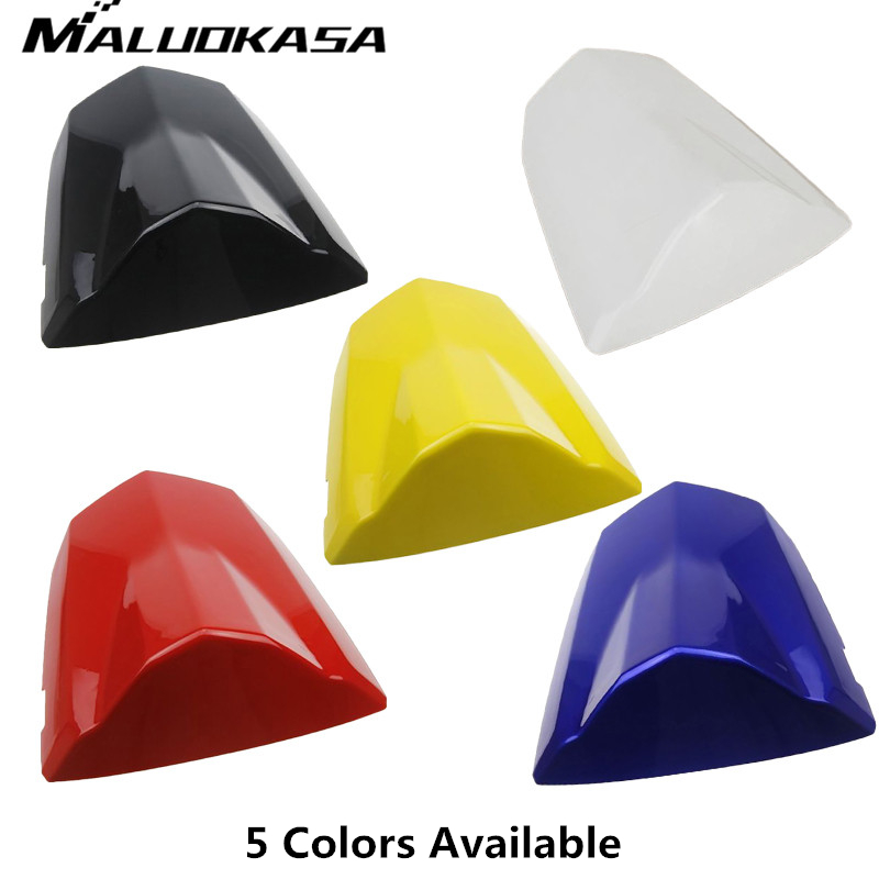 MALUOKASA Motorcycle ABS Plastic Pillion Rear Seat Cowl Cover For Suzuki K4 GSXR600/750 2004 2005 Motorbike Back Cushion Cover