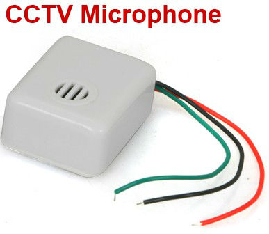 CCTV Microphone Mic for CCTV Camera DVR Security System free shipping(China (Mainland))