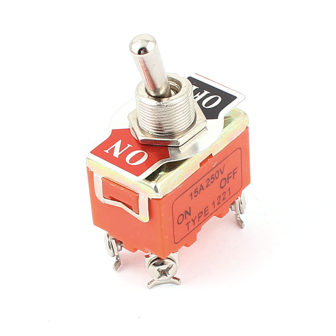 AC 250V 15A 4 Terminals ON OFF DPST Miniature Toggle Switch<br><br>Aliexpress
