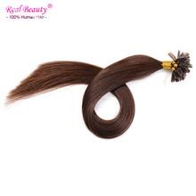 Keratin U Tip Fusion Hair Extensions 1g/Strand 100gram/set Nail tip Human Brazilian Virgin Straight Hair Extensions