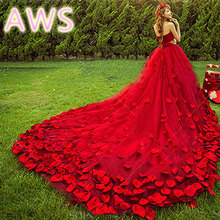 2016 new free shipping wedding dresses sexy women girl wedding dress gown sy20(China (Mainland))