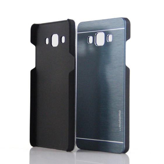 NEW for galaxy E7 Brushed Aluminum+PC Hard case Luxury Metal Back Cover for Samsung Galaxy E7 E700 E700F motomo metal case(China (Mainland))