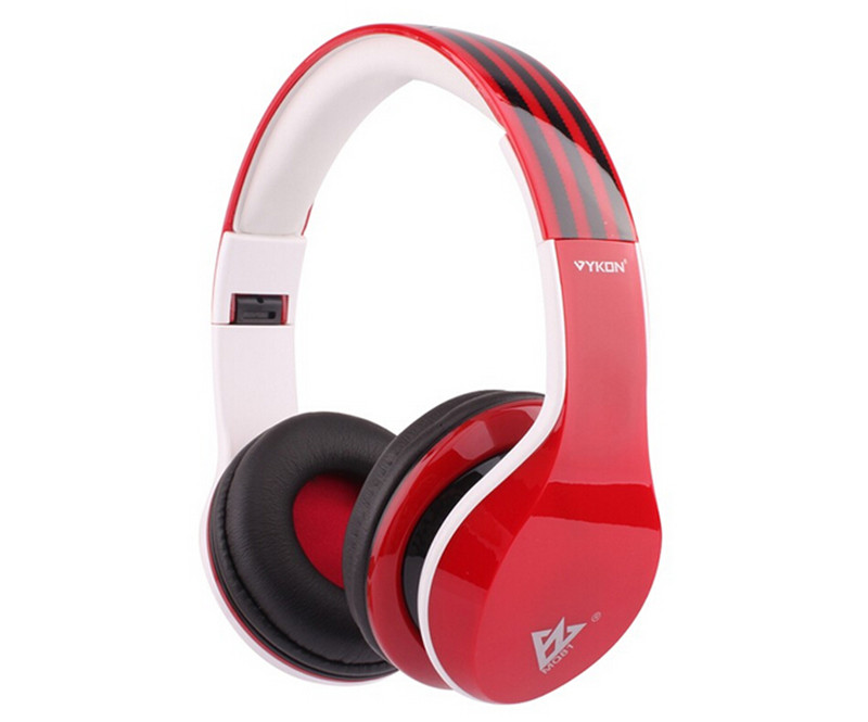 2015 New VYKON Mobile Universal Headset Stereo Headphones Support 3 5MM with Microphone Black Red White