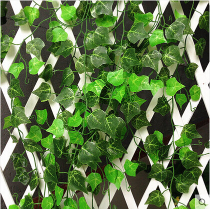 2 4m pcs wedding decoration artificial leaves ornamental for Artificial leaves for decoration
