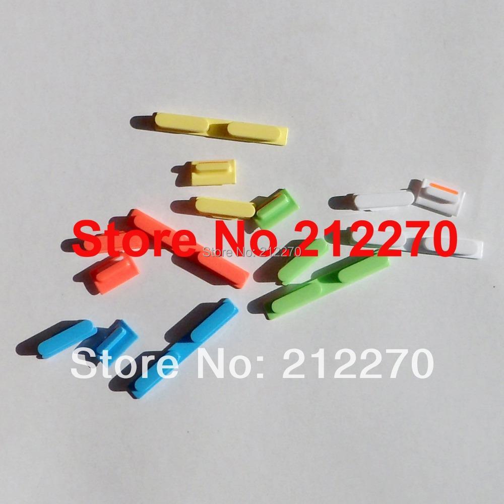 150pcs(50set) Original New Complete Side Buttons Power Volume Mute Switch Key Set Parts For iPhone 5C 5 Color