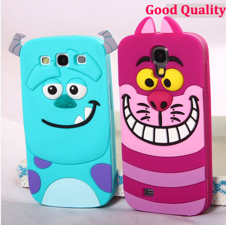 10pcs For samsung galaxy s3 i9300 3D rubber Sulley tiger monster Inc. mobile phone cases cover For sansung galaxy s4 i9500(China (Mainland))