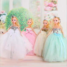 30cm Children Toy Figure Doll Dress Fashion Wedding Dress Big Skirt Half encircle multi-Paragraph Princess Doll Dress Girl Gift